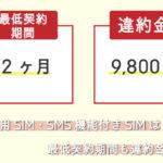 楽天モバイルの解約手数料とMNP転出手数料!最低契約期間は12ヶ月
